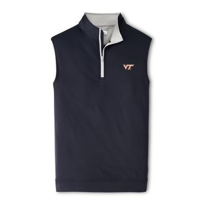 Virginia Tech Peter Millar Galway Quarter-Zip Vest