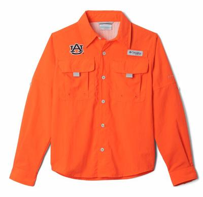 Auburn Columbia Youth Bahama Long Sleeve Shirt