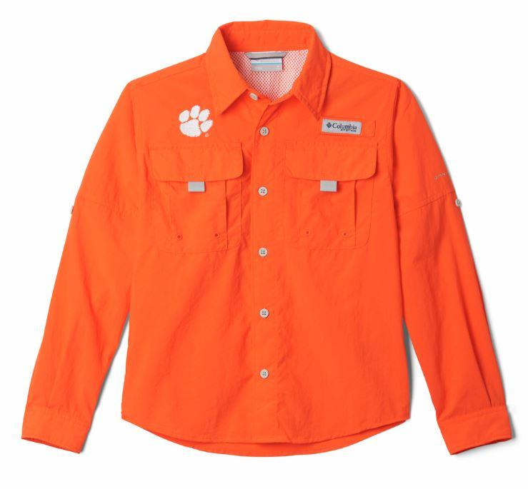Clemson Columbia Youth Bahama Long Sleeve Shirt