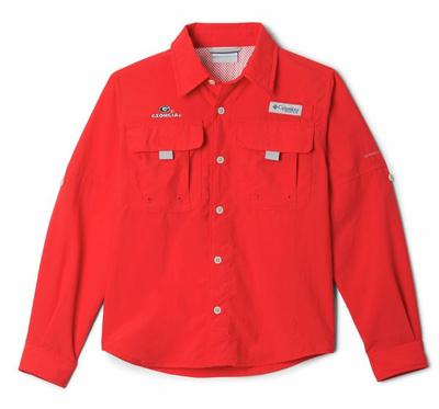 Georgia Columbia Youth Bahama Long Sleeve Shirt