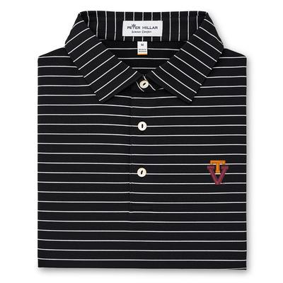 Virginia Tech Peter Millar Trophy Stripe Vault Polo