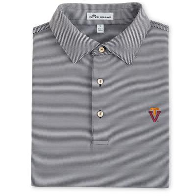 Virginia Tech Peter Millar Jubilee Stripe Vault Polo