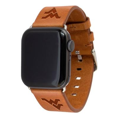West Virginia Apple Watch Tan Band 42/44 MM M/L