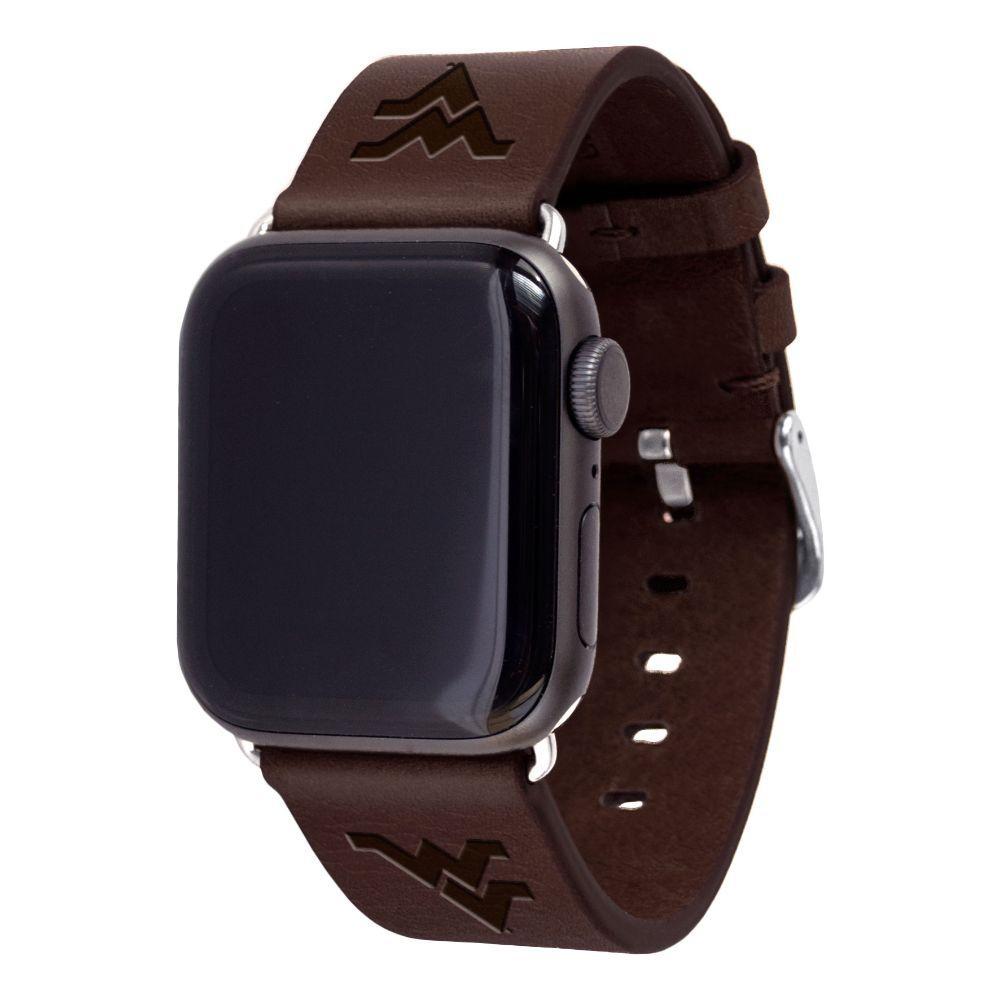 West Virginia Apple Watch Brown Band 42/44 Mm S/M