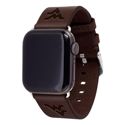 West Virginia Apple Watch Brown Band 42/44 MM S/M