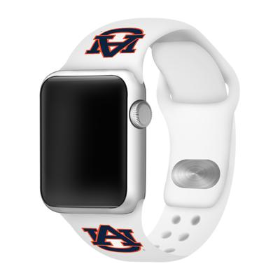 Auburn Apple Watch White Silicon Sport Band 38/40 MM
