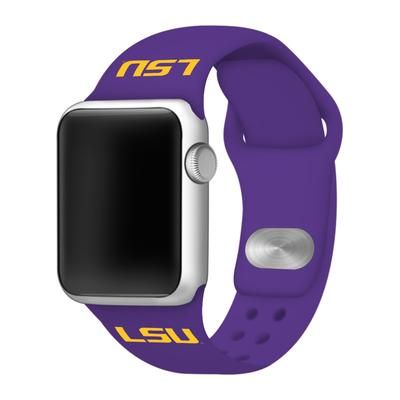 LSU Apple Watch Purple Silicon Sport Band 38/40 MM