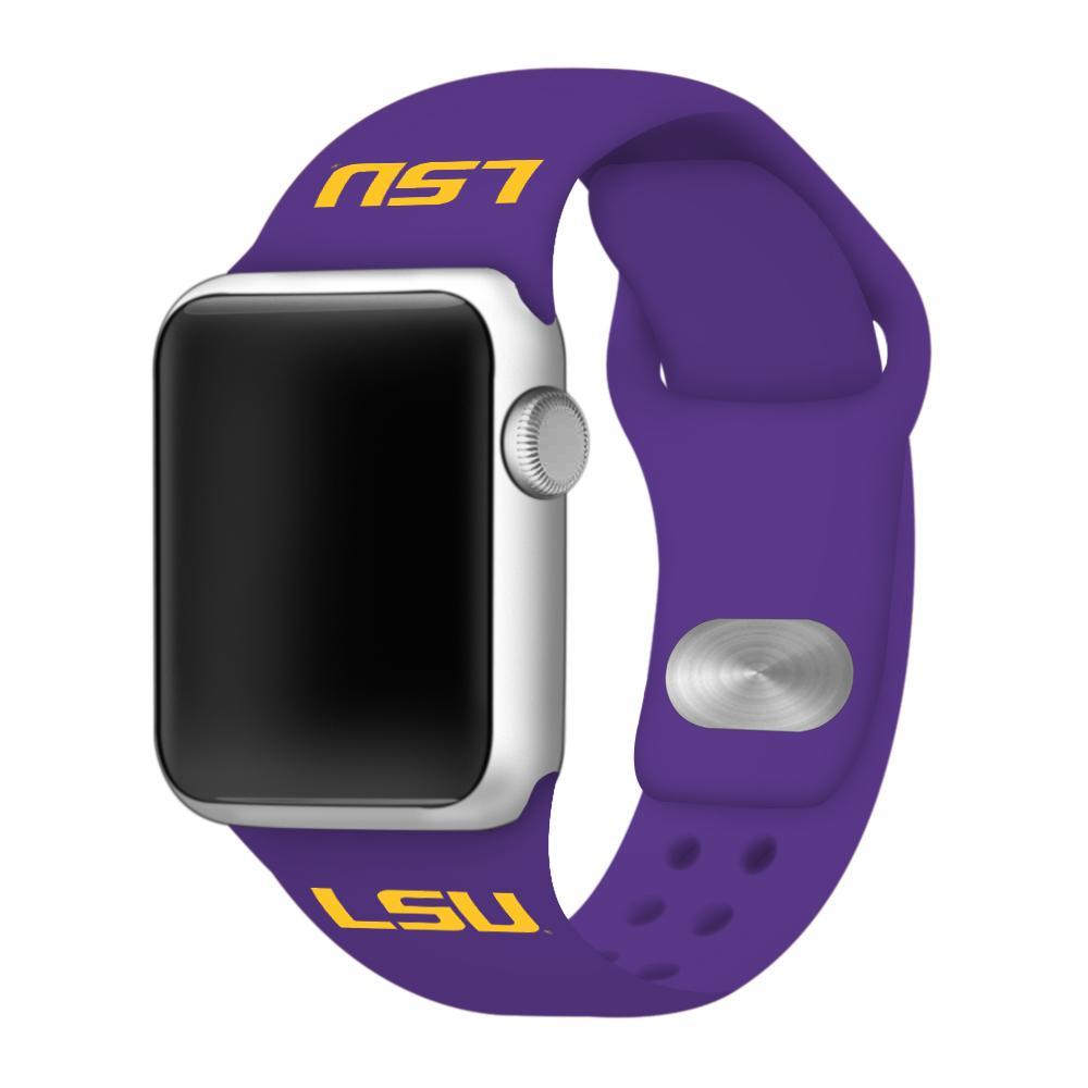 Lsu Apple Watch Purple Silicon Sport Band 42/44 Mm