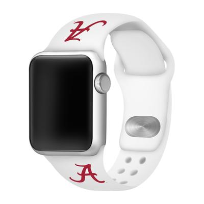Alabama Apple Watch White Silicon Sport Band 42/44 MM