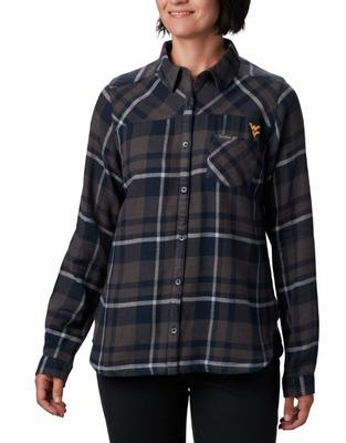 West Virginia Columbia Women's Flare Gun Flannel