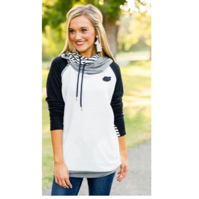Florida Gameday Couture More Chill Layered Pullover Striped Hood