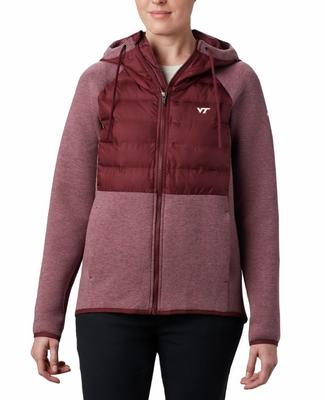 Virginia Tech Columbia Women's Northern Comfort Hybrid Hoodie
