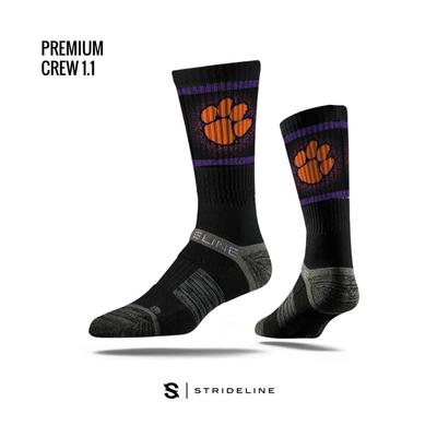 Clemson Strideline Premium Crew Socks
