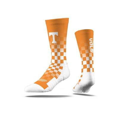 Tennessee Strideline Premium Crew Checkered Socks
