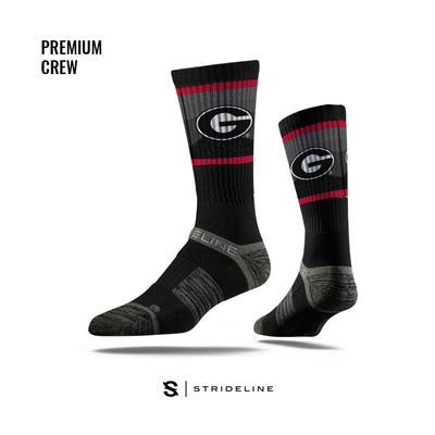 Georgia Strideline Premium Wavy Crew Socks