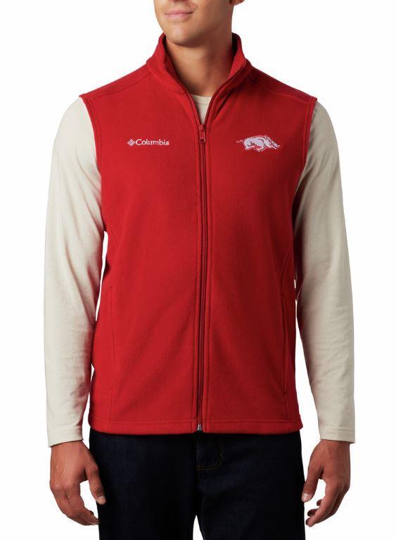 Arkansas Columbia Men's Flanker Fleece Vest
