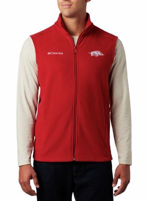 Arkansas Columbia Men's Flanker Fleece Vest