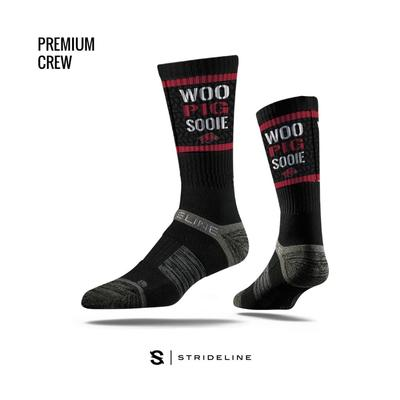 Arkansas Strideline Premium Crew Socks