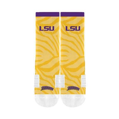 LSU Strideline Sublimated Crew Socks