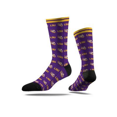 LSU Strideline Logo Dress Socks