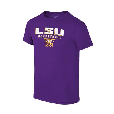 LSU Basketball with Net Logo Tee Shirt
