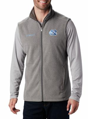 UNC Columbia Men's Flanker Fleece Vest