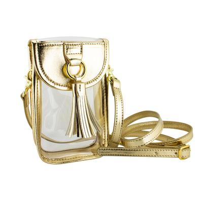Capri Designs Clear Gold Cell Phone Crossbody