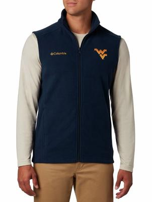 West Virginia Columbia Men's Flanker Fleece Vest