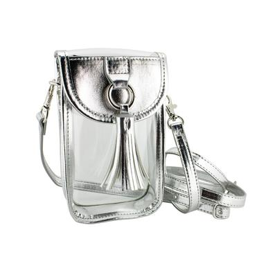 Capri Designs Clear Silver Cell Phone Crossbody