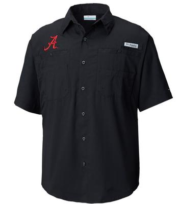 Alabama Columbia Tamiami Short Sleeve Shirt - Tall Sizes