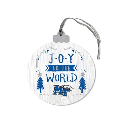 MTSU Legacy Joy to the World Round Ornament