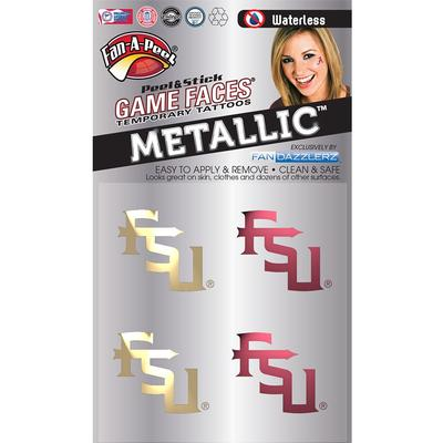 FSU Metallic Face Decal 4-Pack
