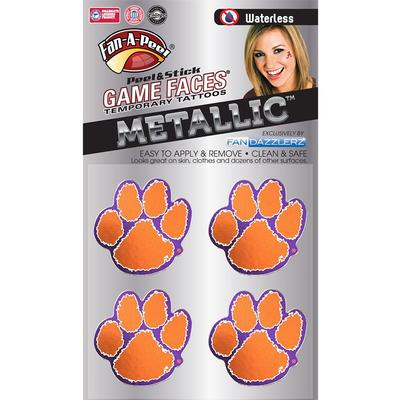 Paw Metallic Face Decal 4-Pack