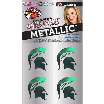 Spartan Metallic Face Decal 4-Pack