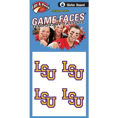 LSU Face Decal 4-Pack