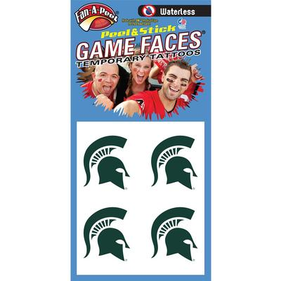 Spartan Head Waterless Face Tat 4-Pack