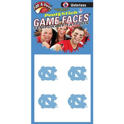 North Carolina Waterless Face Tat 4-Pack