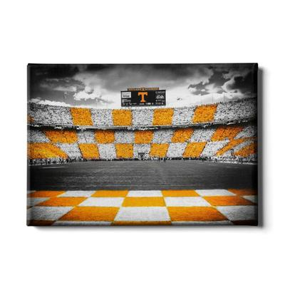 Tennessee 24x16 Checkerboard Neyland Canvas