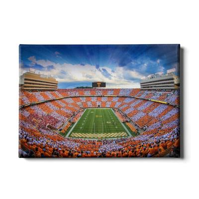 Tennessee 24x16 Sunset Over Checkerboard Neyland