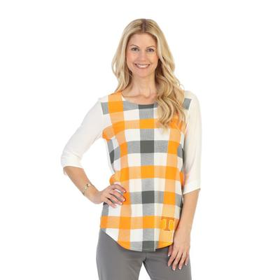 Tennessee P. Michael Plaid 3/4 Sleeve Top