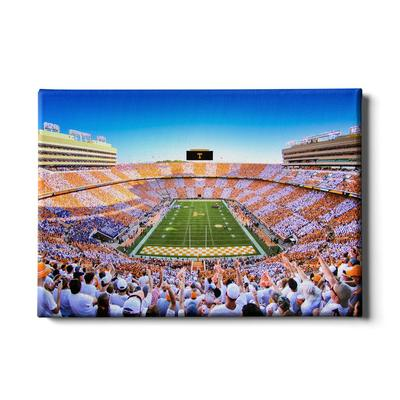 Tennessee 24x16 Reverse Checkerboard End Zone Canvas