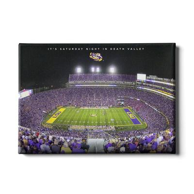 LSU 24x16 It's Saturday Night Canvas