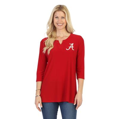 Alabama P. Michael Notch Neckline Top