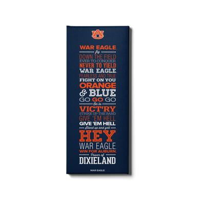 Auburn 12x32 Auburn War Eagle Canvas