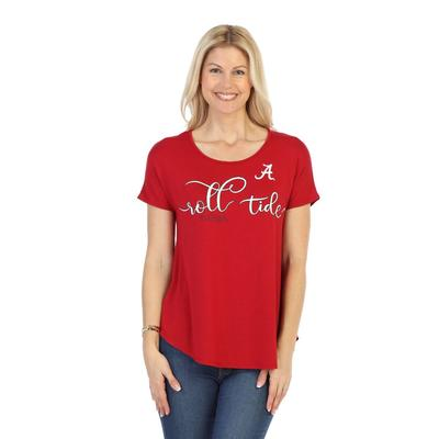 Alabama P. Michael Script Print Scoop Neck Top