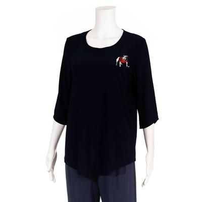 Georgia P. Michael Scoop Neck Top