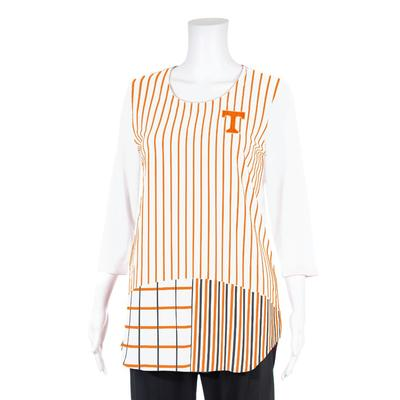 Tennessee P. Michael 3/4 Sleeves Stripe Top