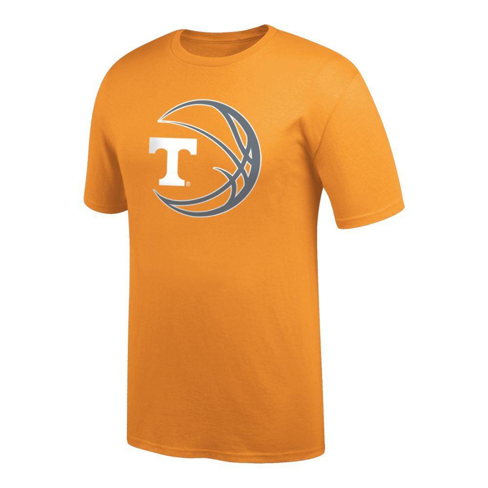Tennessee Logo In Basketball Tee Shirt
