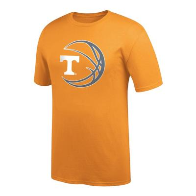 Tennessee Logo in Basketball Tee Shirt