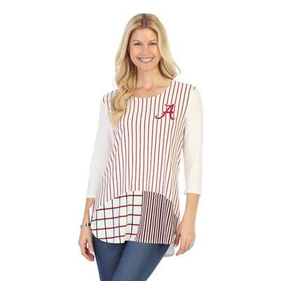 Alabama P. Michael 3/4 Sleeves Stripe Top